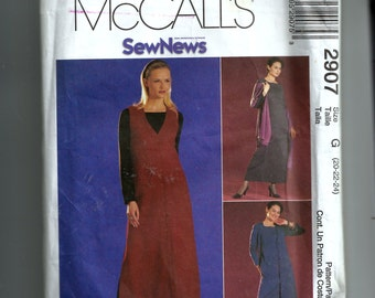 McCall's Misses' / Miss Petite Dress or Top and Jumper Pattern 2907
