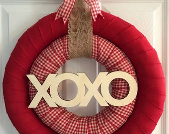 Valentine's Day Wreath - Valentine Wreath - Valentine Wreath for Front Door - XOXO Wreath