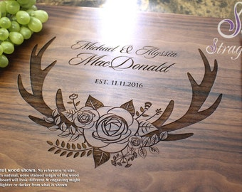 Personalized Cutting Board, Custom Cutting Board, Engraved Cutting Board, Wedding Gift, Gift for Couple, Engagement Gift. 412