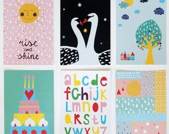 Ausverkauf! Satz von sechs Postkarten #2