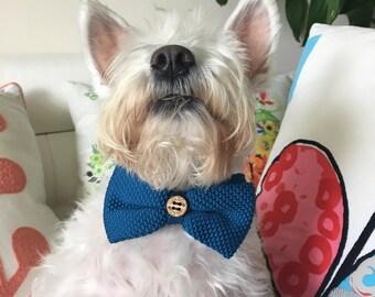 Dog Bow Tie, Dog, Teal, Soft, Silk, Bow Tie, Dog Scarf, Dog bandana, Puppy Bow Tie
