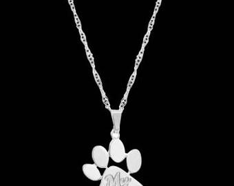 Silver Personalized Necklace - Custom Necklace - Personalized Jewelry - Personalized Gift - Engraved Necklace - Coordinates Necklace