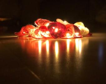 Crochet fairy lights (hearts)