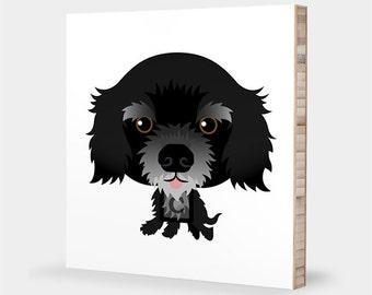 Cocker Spaniel art | Black - Alphabet art, Pet portrait, Cocker Spaniel gift, Dog art, Cocker Spaniel print, Cocker Spaniel nursery decor