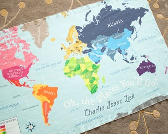 World map blanket etsy organic baby blanket crib blanket swaddle blanket toddler blanket world map gumiabroncs Images