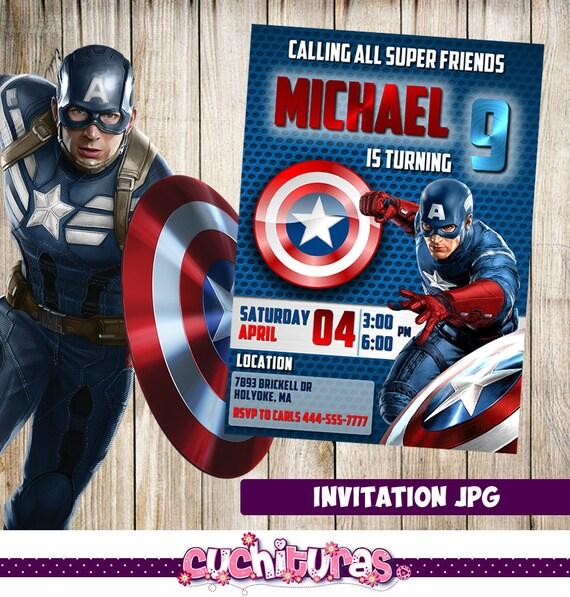 Captain america invitation selol ink captain america invitation filmwisefo