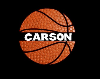 Split Basketball Name Decal! Sports Decal, Custom Decal perfect for  cars, coolers, tumblers, anything!