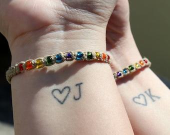 Rainbow Pride - Pride Jewelry-  Friendship Bracelets - Gay Pride - LGBTQ - Hemp - Beaded Bracelet - Stackable - Gifts