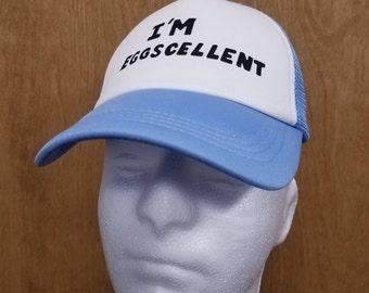 I'm Eggscellent Hat Trucker Cap Best Quality Halloween Costume Cosplay TV Show Cartoon Excellent Eggscellent Rigby Mordecai Adult Gift Idea