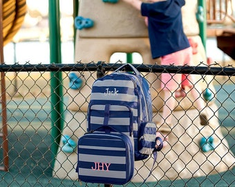 Greyson Backpack and Lunch box Set, MONOGRAM INCLUDED, Personalized Backpack, Monogram Backpack, Boy Backpack, Back to School