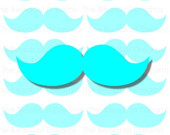 12 large blue Mustaches - mustaches tag - Printable digital collage sheet - mustaches party - INSTANT DOWNLOAD (cs0093)