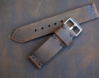 APPLE Watch Distressed Leather Strap Hand made Brown Band with Buckle iwatch