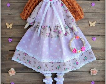 Tilda Doll-fabric doll-Cloth doll rag doll-stuffed doll-подарок для женщины девочки- soft doll-тряпичная кукла тильда handmade doll