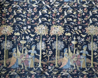The Middle Ages Medieval Tapestry Panel Early 20th C Reproduction