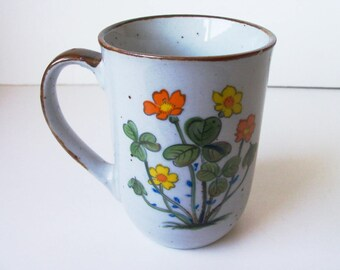 Vintage ceramic hand painted cup  (#EV93)