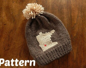 Minnesota Hometown Knit Hat Pattern : Baby Hat, Toddler Hat, Child Hat, Adult Hat