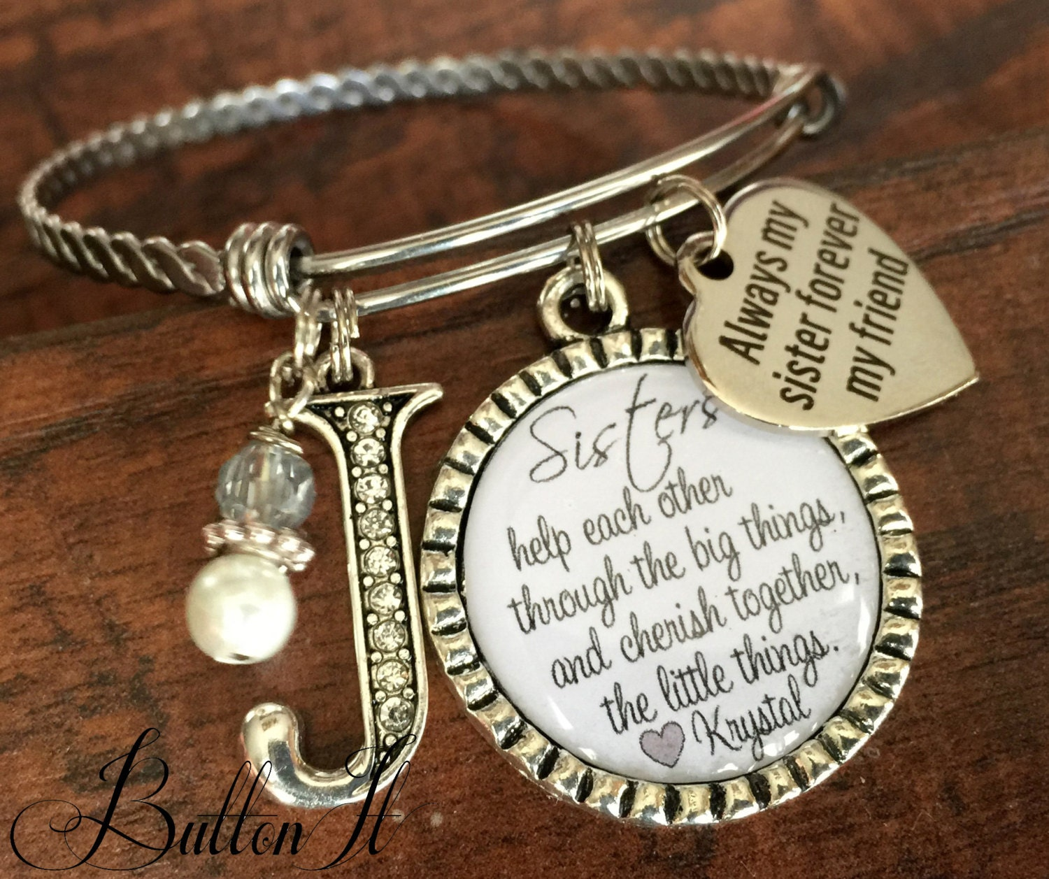Love My Big Sister Quotes Sister Bracelet Sister Jewelry Sister Gift Big Sister
