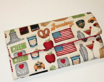 Envelope Wallet / I Love New York Wallet / Wristlet / Clutch / Cell Phone / Bridesmaid Gifts