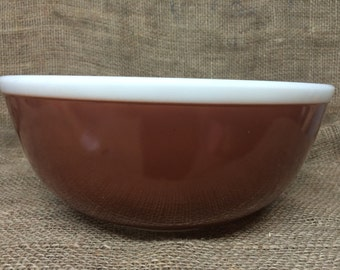 Vintage Pyrex Fall Americana 4 Quart Mixing Bowl 404