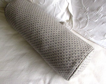 7x20 Platinum Gray chenille decorative Bolster Pillow