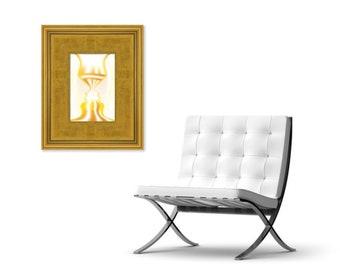CREATIO - Abstract Art Print on Canvas - Digital Art - Fine Art Print - Faces Print - Decorative Wall Art