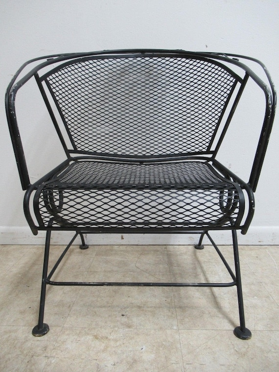 Vintage Woodard Mesh Outdoor Patio Porch Rocking Lounge Chair B