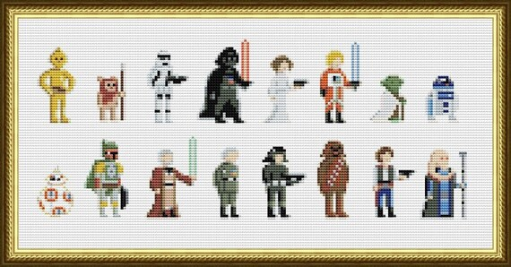 Star Wars Cross Stitch Pattern Pixel People Pdf Darth Vader