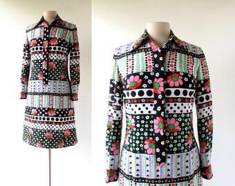1970s Floral Dress | Blumenspiel | 70s Dress | McMullen | Small S