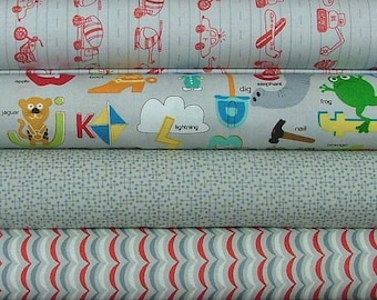 Half Yard Bundle of Apple Jack in Gray by Tim and Beck for Moda