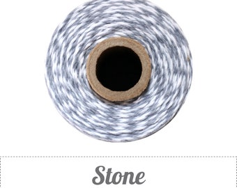10 yards/ 9.144 m Stone Gray and White Twine, Bakers Twine
