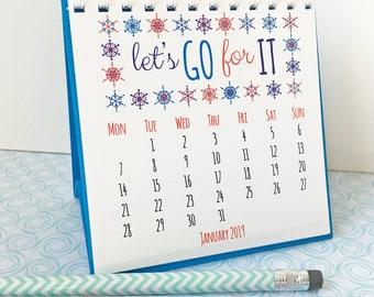 2018 - 2019 Calendar for desk - Quotes calendar - Inspirational Quotes - Desk Calendar - 2018-19 calendar - Mini Calendar - Positive Quotes