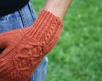 PDF Knitting Pattern - Skeleton Key Fingerless Gloves