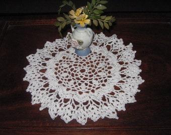 "Thread Crochet Doily in White..8."""