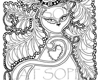 Lovena - Instant Downloadable Colouring In Sheet