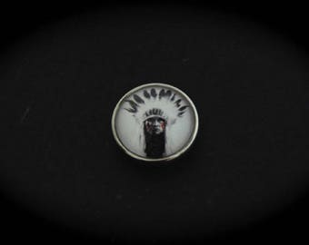 Cabochon 18mm for jewelry - Native American fancy pressure: Indian