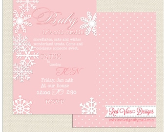 Baby it's cold outside Invitation