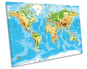 World map canvas etsy world map canvas wall art framed picture print gumiabroncs Choice Image