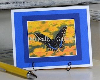Black Swallowtail Card Handmade Card Print of artwork painting
