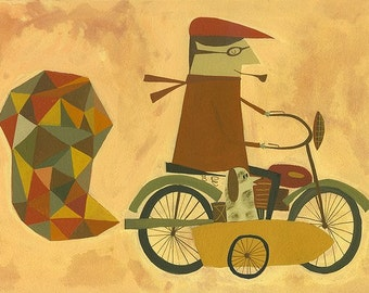 Gehen für eine Fahrt. Limitierte Auflage von Matt Stephens.