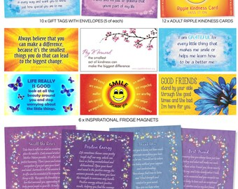 Pay It Forward Mega Pack - Fridge Magnets, Gift Tags, Positive Thinking, Motivational Quotes, Love Cards, Pay It Forward, Kindness Quotes