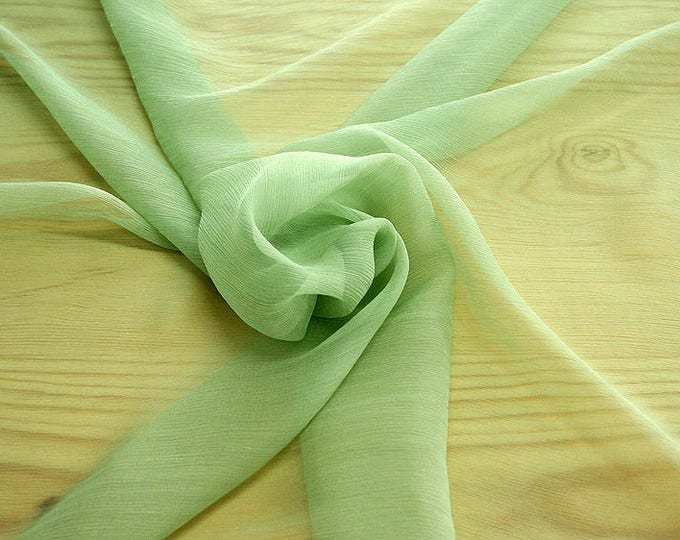 326083-Chiffon Natural silk 100%, width 127/130 cm, made in Italy, dry cleaning, weight 29 gr