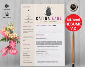 Professional resume template instant download, resume template, creative resume, CV, CV design, curriculum vitae, MS word resume template