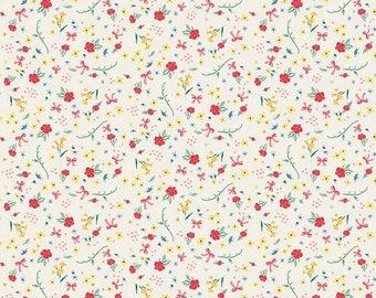 Bunnies and Cream, By Lauren Nash Bunnies Roses Cream C6022-Cream - Fat Quarter