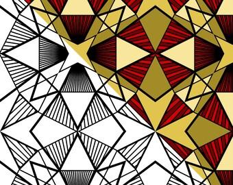 10 Geometric Pattern Coloring Pages Vol 3 - Adult Coloring Book - Printable PDF - Digital Download