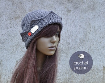 PDF Crochet Pattern - Jughead Jones Beanie / Crochet Whoopee Cap / Riverdale Beanie - (PDF file), Sizes: from 2 Months Old to XL Adult