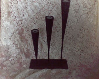 Candle holders,  Metal  candle sticks, centerpeice, wedding candles, home decor, Fireplace Decor