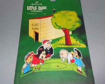 1970's - Hallmark - Little Lulu Centerpiece -  Vintage Paper - Party - Tubby, Annie Iggy & Alvin