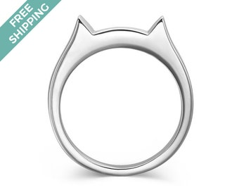 Sterling Silver Cat Ring - Free Shipping Worldwide