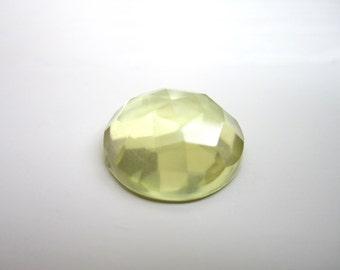 GCF-1090 - Lemon Quartz Cabochon - 16mm Round Faceted Gemstone - AA Quality - 1 Cab