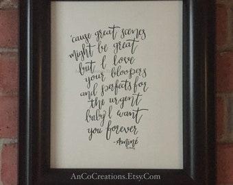 Caroline by Amine, Original Calligraphy